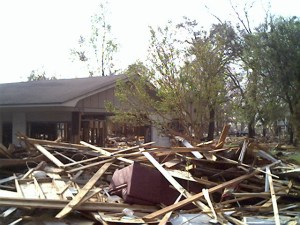 Homes and shelter destroyed