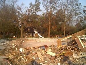 Hurricanes and storm surge. Hurricane Katrina along the Gulf Coast