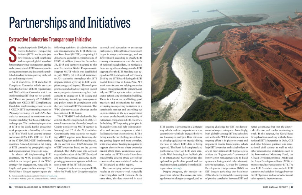 Interior spread: Partnerships and Initiatives
