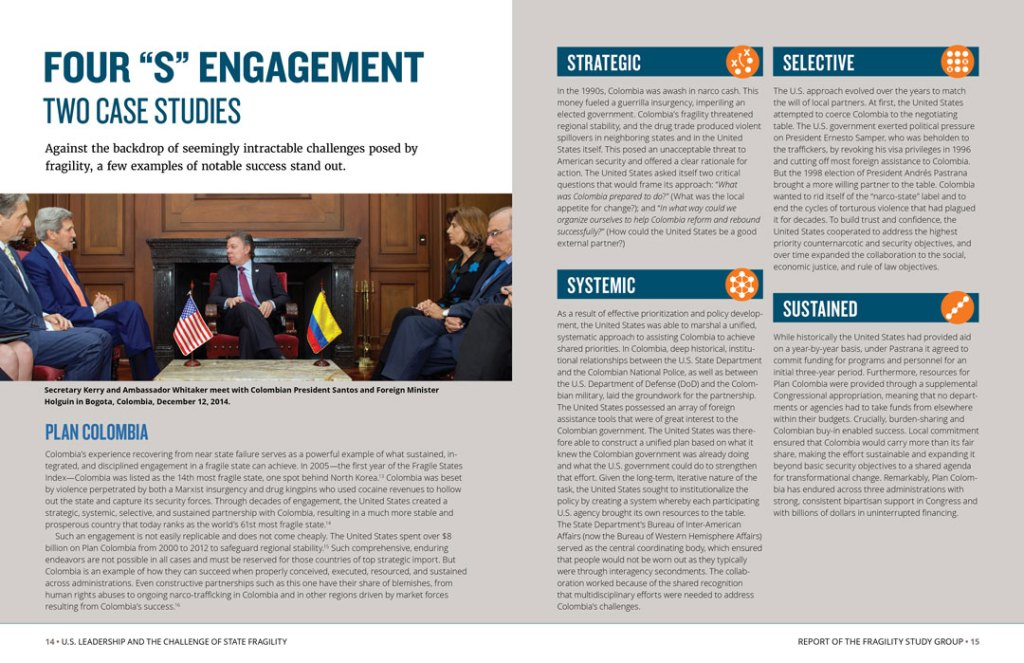 "Interior spread: Four ""S"" Engagement"