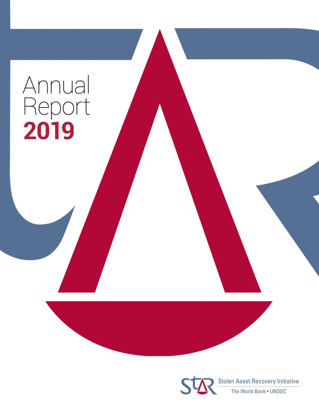 Annual report cover showing detail of logo
