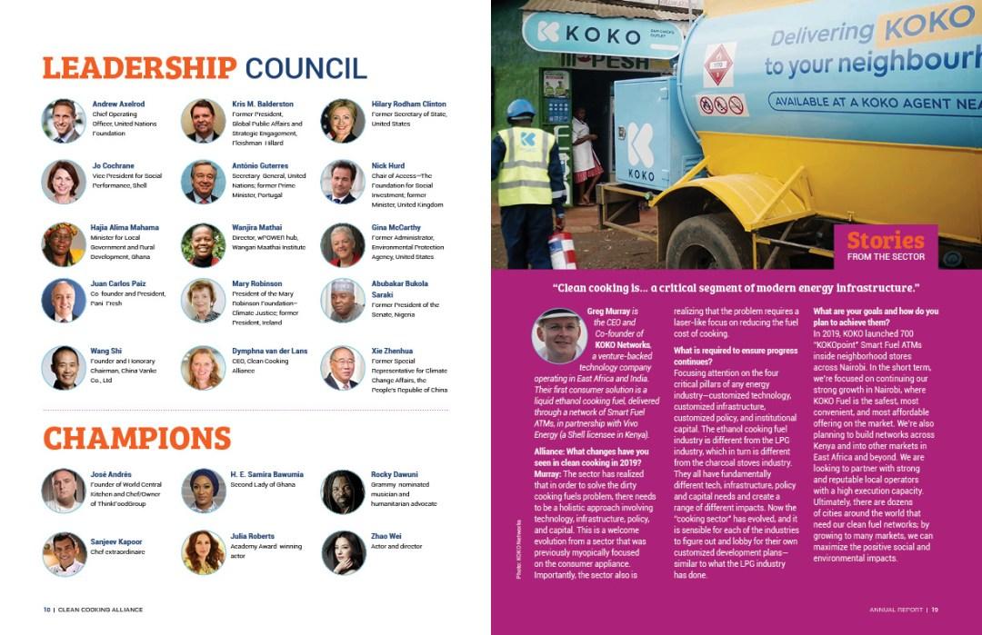 Interior spread: Leadership Council/Champions