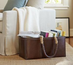 Leather Storage Tote Prayer Chair