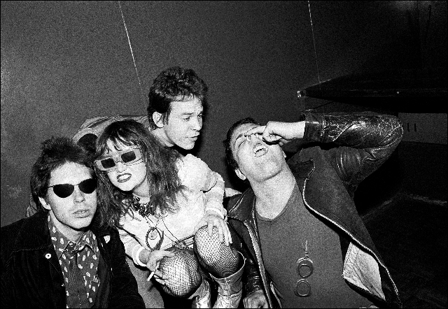 Welcome to LA, 1977: John Doe, Exene, Rand McNally, and Black Randy, photograph by Ruby Ray