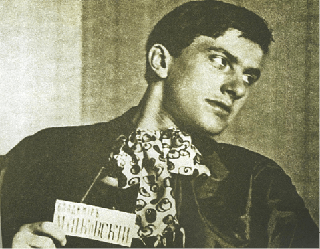 Mayakovsky wearing a silly tie
