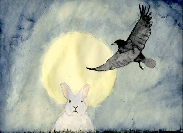 Rabbit and Crow, by Jóhanna Ellen