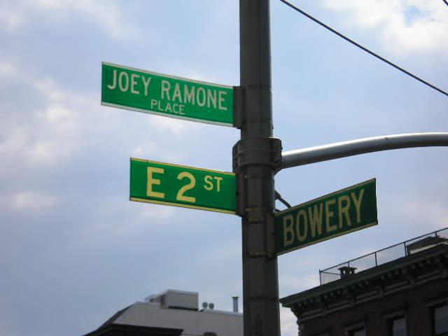 Joey Ramone Place & Bowery, photograph by David Shankbone