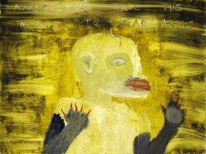 Americans Have the Right to Bear Arms, , a painting by John Lurie