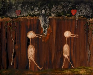 Birds of the Hideous Divine, a painting by John Lurie
