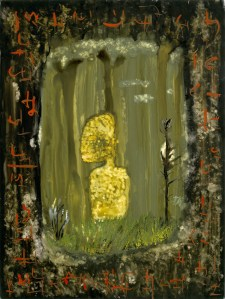 John and Jaya, a painting by John Lurie
