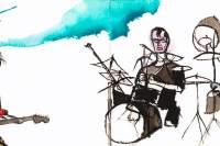 Bush Tetras drawing by David West