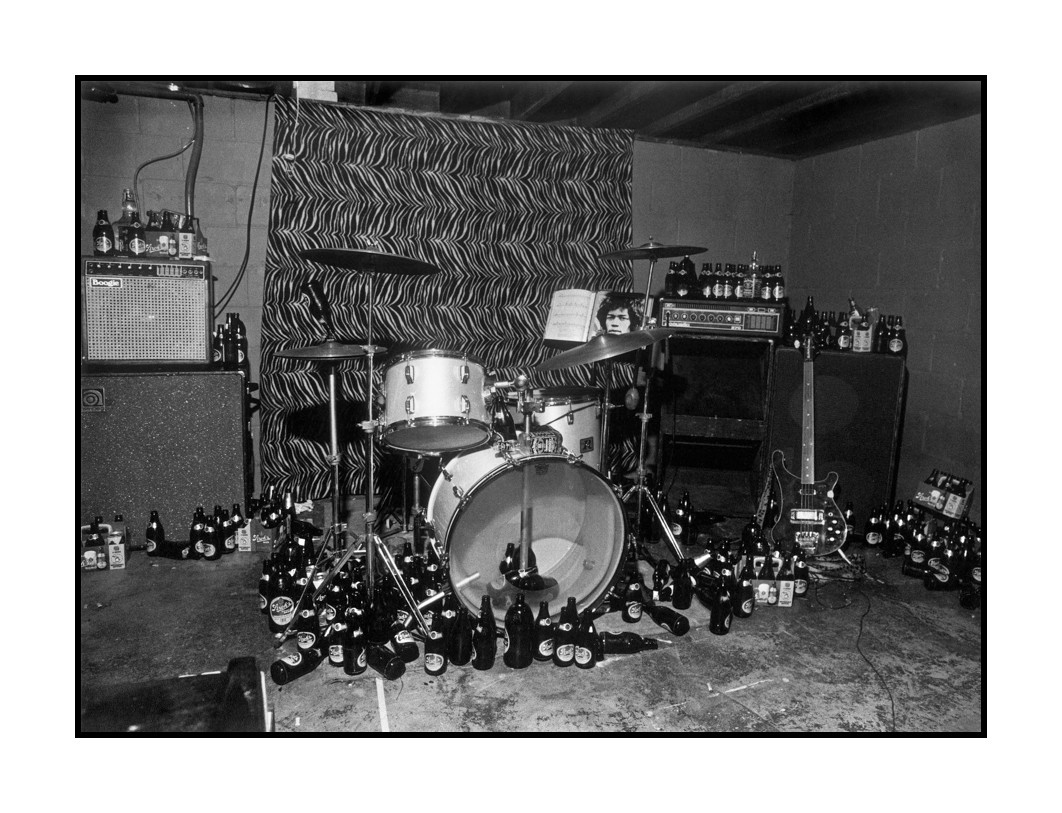 The Cult Heroes' band practice room, Ann Arbor, 1978.