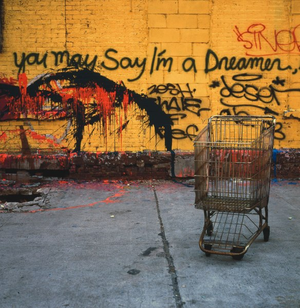 You May Say I'm A Dreamer, Avenue C, 1983, photograph by Philip Pocock