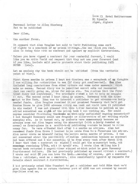timothy leary letter algeria 1970 page1