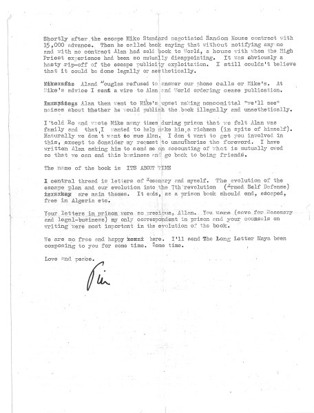 timothy leary letter algeria 1970 page2