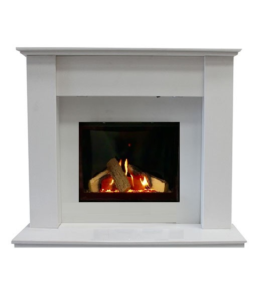 Bilbao Marble Fireplace with Celena Gas Fire