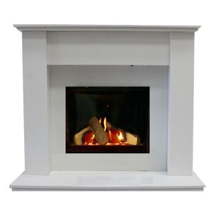 Bilbao Marble Fireplace Suite Anti Reflective Glass