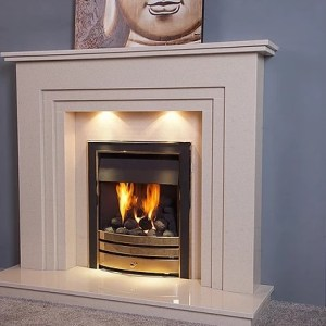 Aviana Marble Fireplace