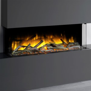 Flamerite Glazer 1000 3-Sided Electric Fire