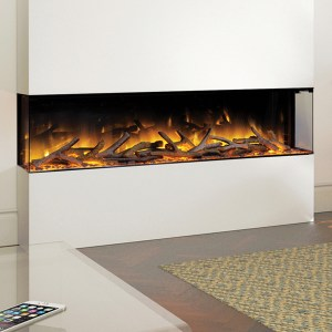 Flamerite Glazer 1500 3-Sided Electric Fire
