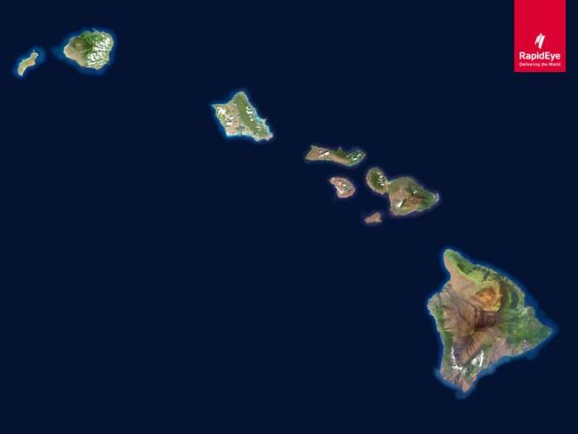 RapidEye Hawaii Mosaic