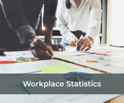 Office worker analyzing statistics