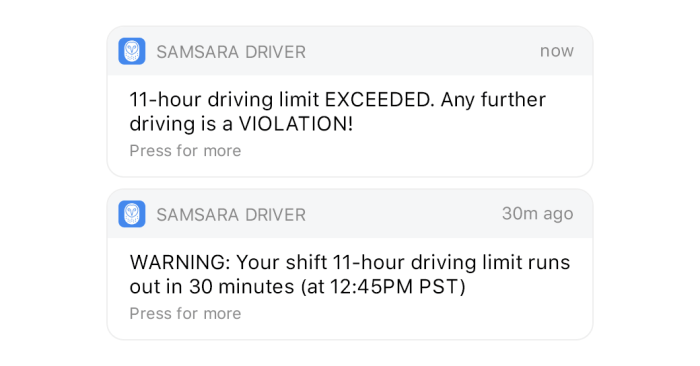 Driver notification