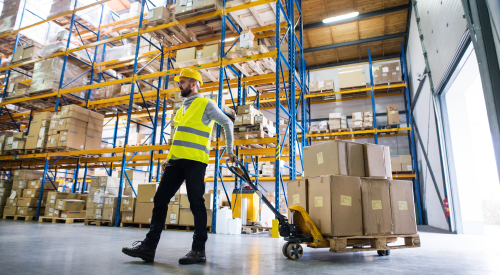 Asset monitoing in warehouse