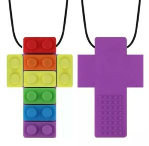 brick cross chewy necklace