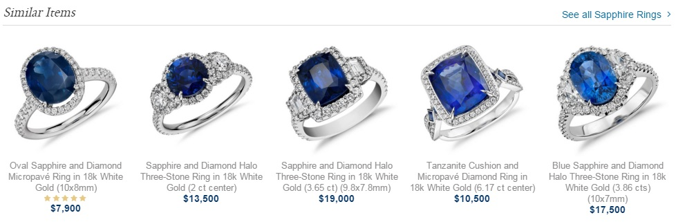 Sapphire Rings at Blue Nile
