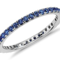Sapphire and Diamond Eternity Rings in Gorgeous Gold Blue Nile Settings