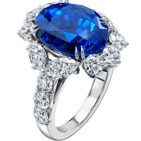 Harry Winston The Incredibles Oval Sapphire and Diamond Ring