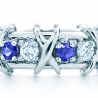 Tiffany and Co. Sixteen Stone Sapphire and Diamond Ring