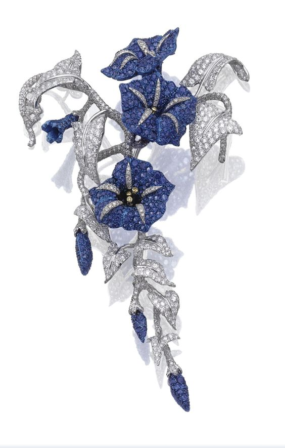 "Sapphire and diamond ""Convolvolo"" brooch, Michele Della Valle."