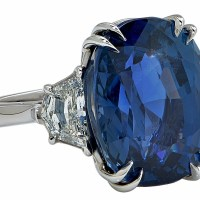 Stunning Aletto AGL Certified 20.42ct Unheated Burma Sapphire Ring