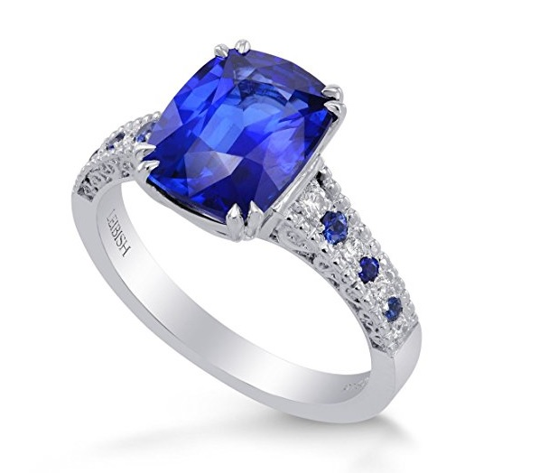 Leibish & Co 3.93Cts Sapphire Side Diamonds Engagement Side Stone Ring Set in Platinum Size 6.50. Price:$19,990.00 & FREE Shipping