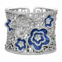 A Spectacular Sapphire and Diamond Cuff Bracelet