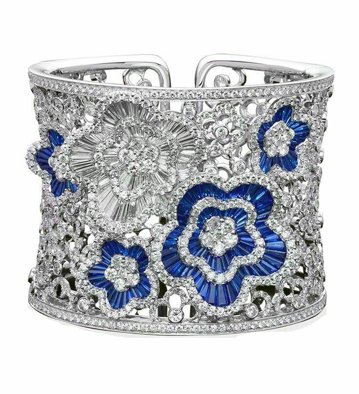 A Gorgeous Sapphire and Diamond Cuff Bracelet