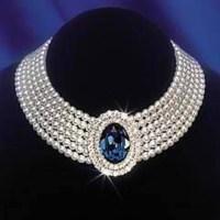Princess Diana's Sapphire Pearl Choker