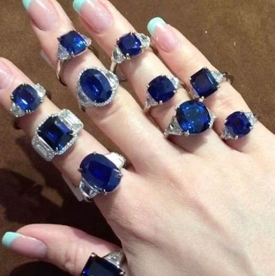 Sapphire and Diamond Rings
