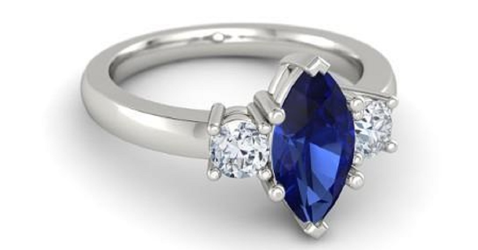 solid sapphire pin engagement one blue ring by carat gold artemer