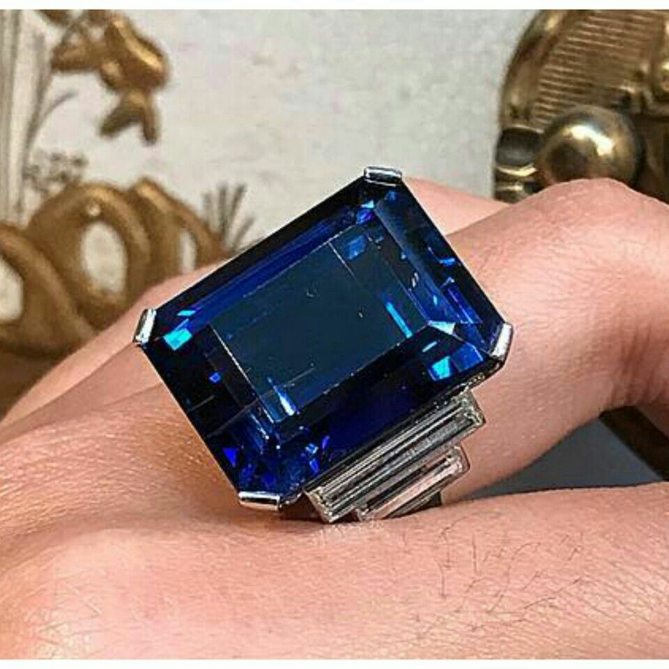 Sapphire and Diamond Ring at Christie's