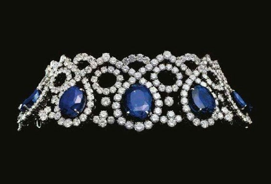 Sapphire & Diamond Choker by Alexandre Reza