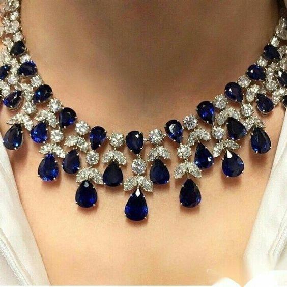Sapphire Diamond Necklace