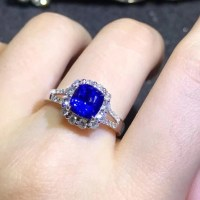 Gorgeous  2.49ct Blue Sapphire and Diamond Ring