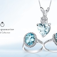 Gorgeous 14K White Gold Aquamarine  Jewelry by Peora