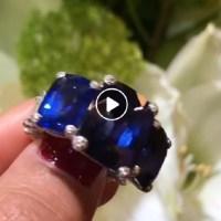 Gorgeous Three Stone Sapphire Ring
