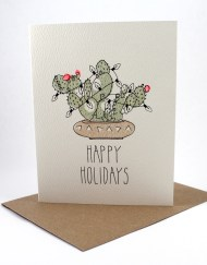 Southwest motif Happy Holidays card