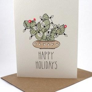 Southwest motif Happy Holidays card