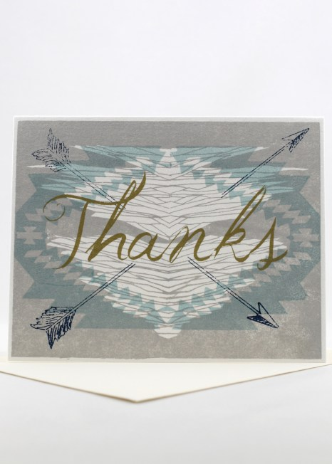 Southwestern design thank you card